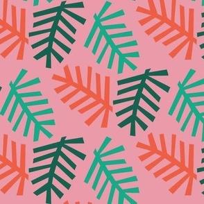Christmas Tree pink bg