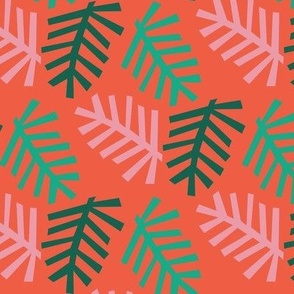 Christmas Tree red bg