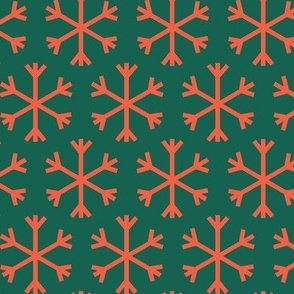 Flakes dark green red