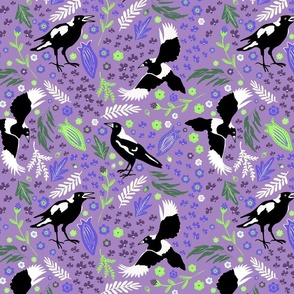 Magpie Folk Story Purple - large scale