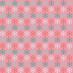 Flakes rainbow pink