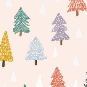 Christmas trees-pink-medium
