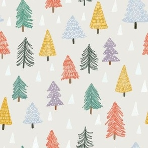 Christmas trees-beige-small