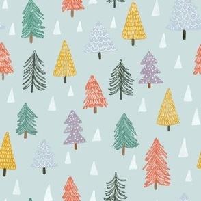 Christmas trees-blue-small