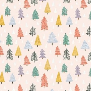 Christmas trees-pink-extra small