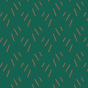pine needle pattern dark green red