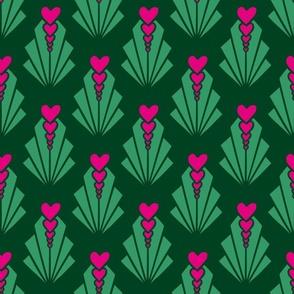 Zozzled Hearts - Green