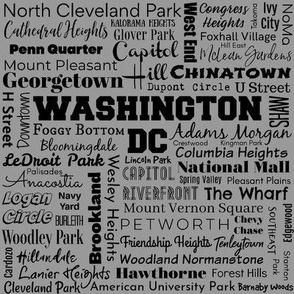 Washington DC neighborhoods, gray