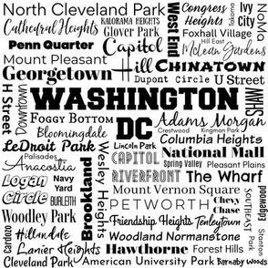 Washington DC neighborhoods, white/black