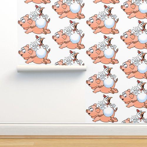 Dessin Anime Les Dessins Animes Poulet Poulets Marrant Porc