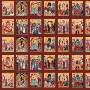 """""""The Twelve Great Feasts"""" in Icons"""