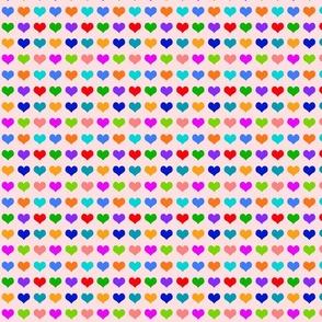 Rainbow Hearts Pale Pink