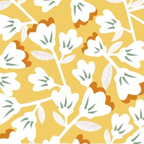 Magnolia (on yellow)