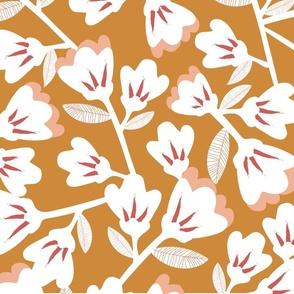 Magnolia (on brown)