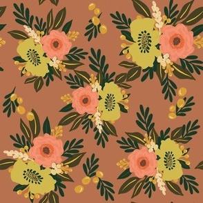 Floral Bloom (on blush)