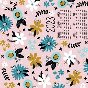2022 Vintage Joy Floral Tea Towel Calendar