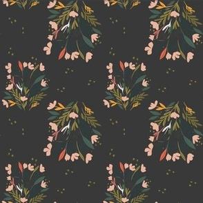 Floral Garden (on black)