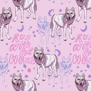 Run with the wolves CHALK PINK