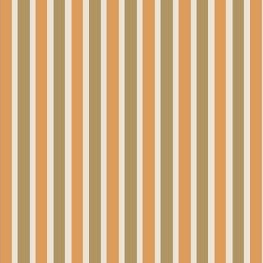Dusty Earth Stripes (#14) - Narrow Ribbons of Dusty Talc with Dusty Fawn and Dusty Apricot