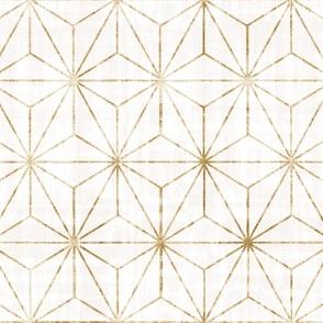"Star Geo - white + gold - 12"" wallpaper"