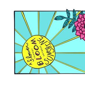Sunshine & Flowers Inspirational Tea Towel