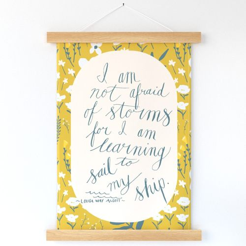 Learning to Sail my Ship ~ mustard yellow