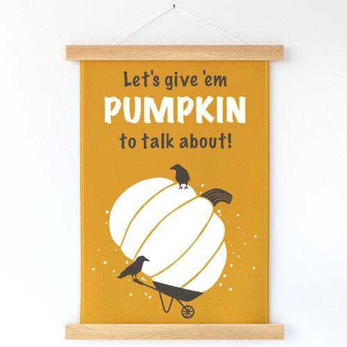 Pumpkin Talk tea towel