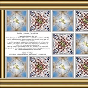 Hope & Charity Ornament FQ