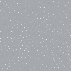 Dots - Grey Silver  (larger) Xmas or Hanukah