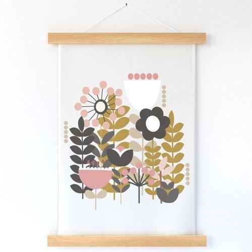 Scandi Floral Wall Hanging