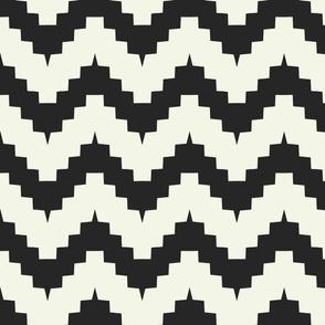 chevron black and off-white