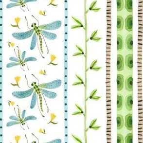 Dragonfly Stripe - Frolic Collection