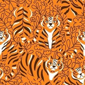 tigers-oranges