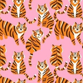 tigers-on-pink