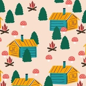 Cabin in the Mushroom Forest
