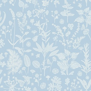 Herb Garden Sky Blue