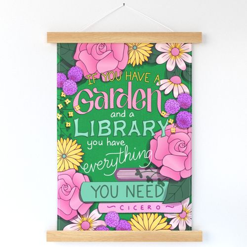 SKM Designs - Garden and Library Wallhanging