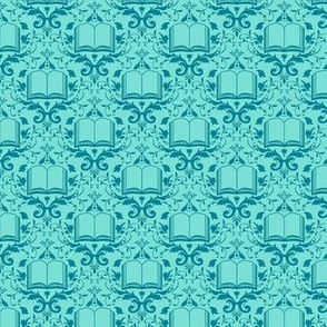 Book Damask Aquamarine