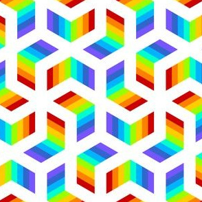 01227062 : chevron 6 : rainbow