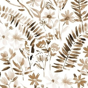 Earthy boho Wildflowers of Italian riviera - watercolor florals meadow - painted bloom for modern home decor nursery a629-10