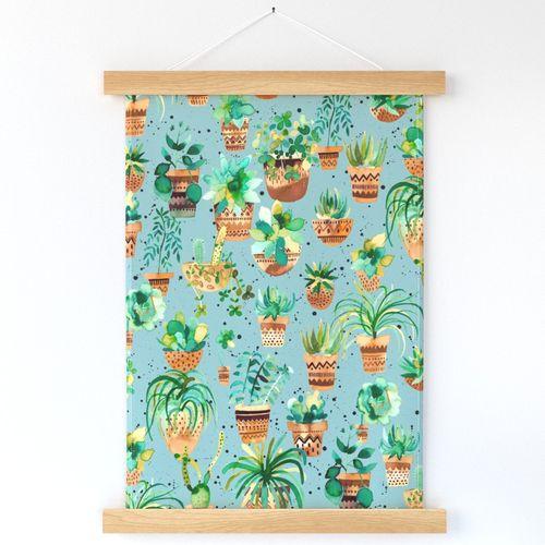 Home plants Blue