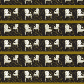 Two French Chairs on black