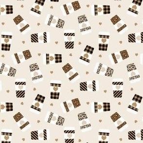 SMALL leopard print coffee, cute coffee cups