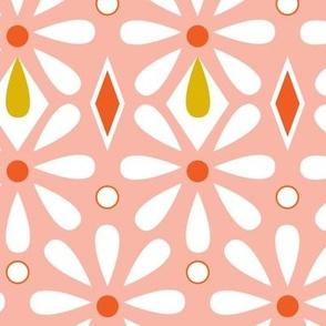 Fleurette Radiant Floral Geometric - Pink Large Scale