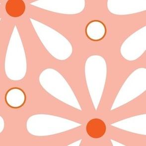 Fleurette Radiant Floral Geometric - Pink Jumbo Scale