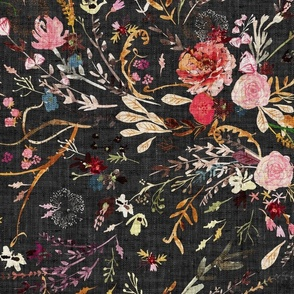 Autumn Fable Floral (charcoal) JUMBO