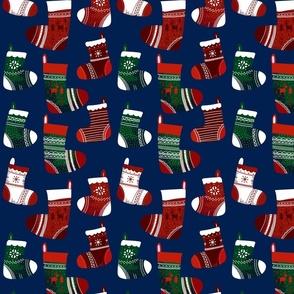 Christmas Joy Stocking Blue