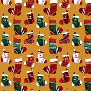 Christmas Joy Stocking Gold