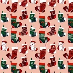 Christmas Joy Stocking Pink