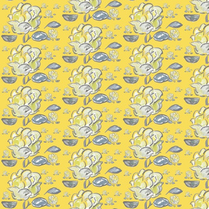 Yellow rose watercolor